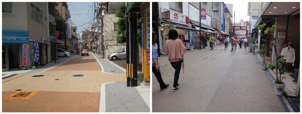 遮熱性舗装が使われている例 生活道路