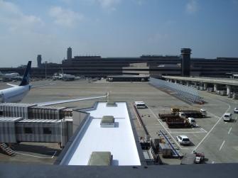 遮熱塗料ミラクール施工実績2008 空港施設コンクリート屋根(シート防水)600㎡