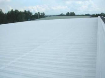 遮熱塗料ミラクール施工実績2010 フィリピン  自動車部品メーカー屋根 SW200クールホワイト施工