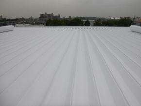 遮熱塗料ミラクール施工のお客様の声 株式会社シロキ 春日井倉庫 写真 施工後