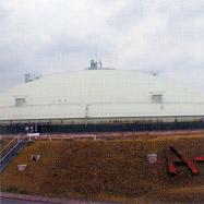 遮熱塗料ミラクール施工写真 設備 LNGタンク
